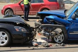 Head-on car collision
